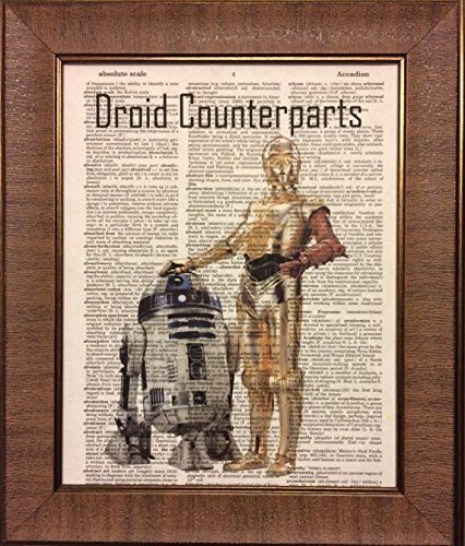 Ready Prints Droid Counterparts Star Wars Dictionary Book Page Artwork Print Picture Poster Home Office Bedroom Nursery Kitchen Wall Decor - unframed -