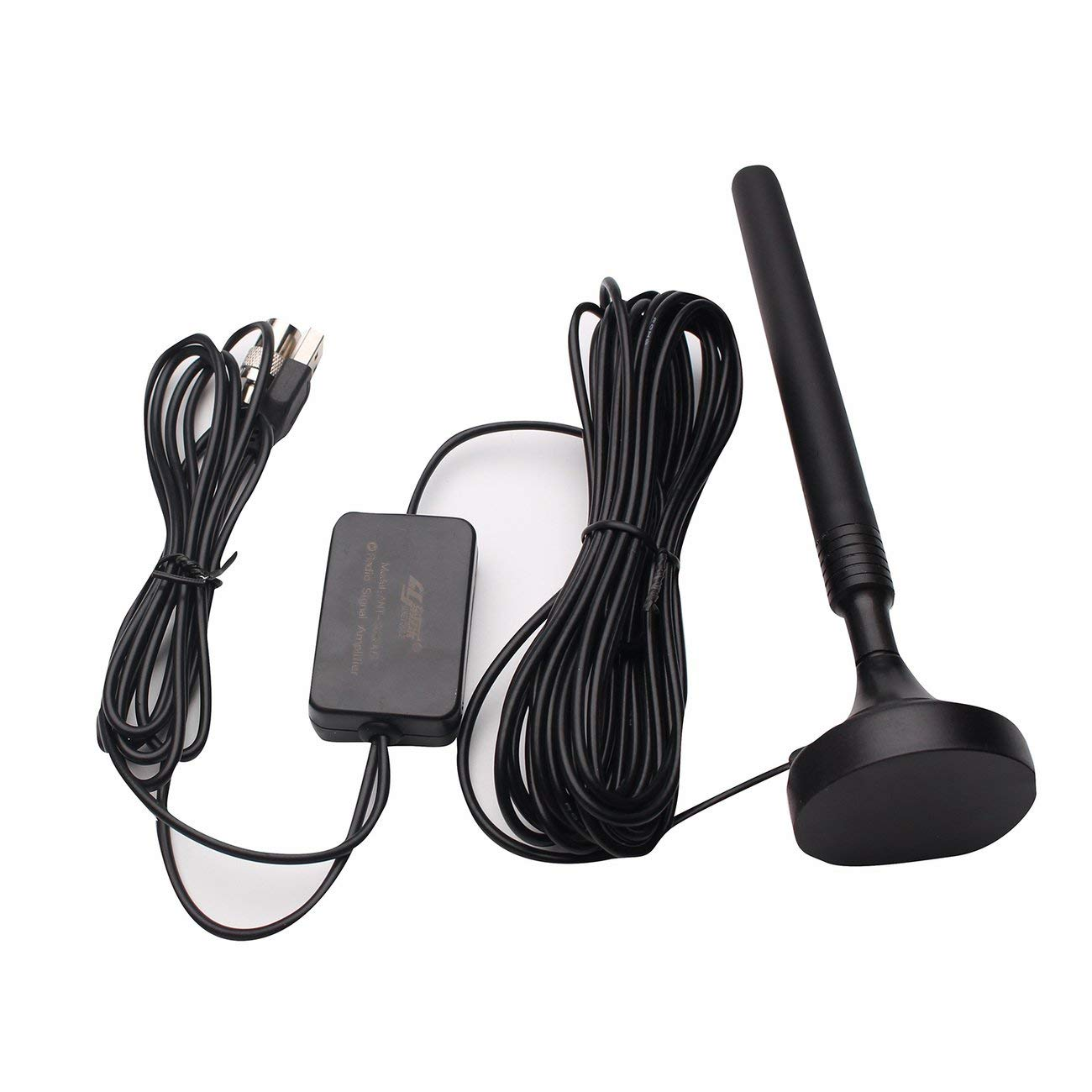 Easy to Use Plug and Play ANT-308PLUS Household USB FM Antenna,25dB High Gain FM Radio Antenna Amplified FM Signal for Low Floor