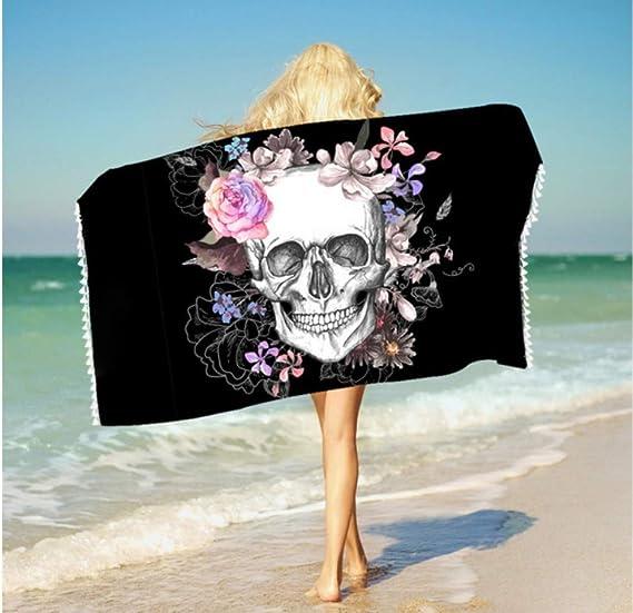 acheter serviette tete de mort online 4