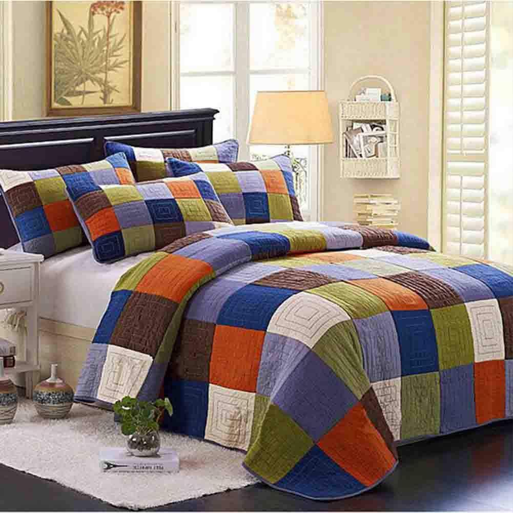 スリーピースキルティング、綿のパッチワーク、ベッドカバー、エアコンの掛け布団、サマークールキルト、230×250cm B07QY632WQ