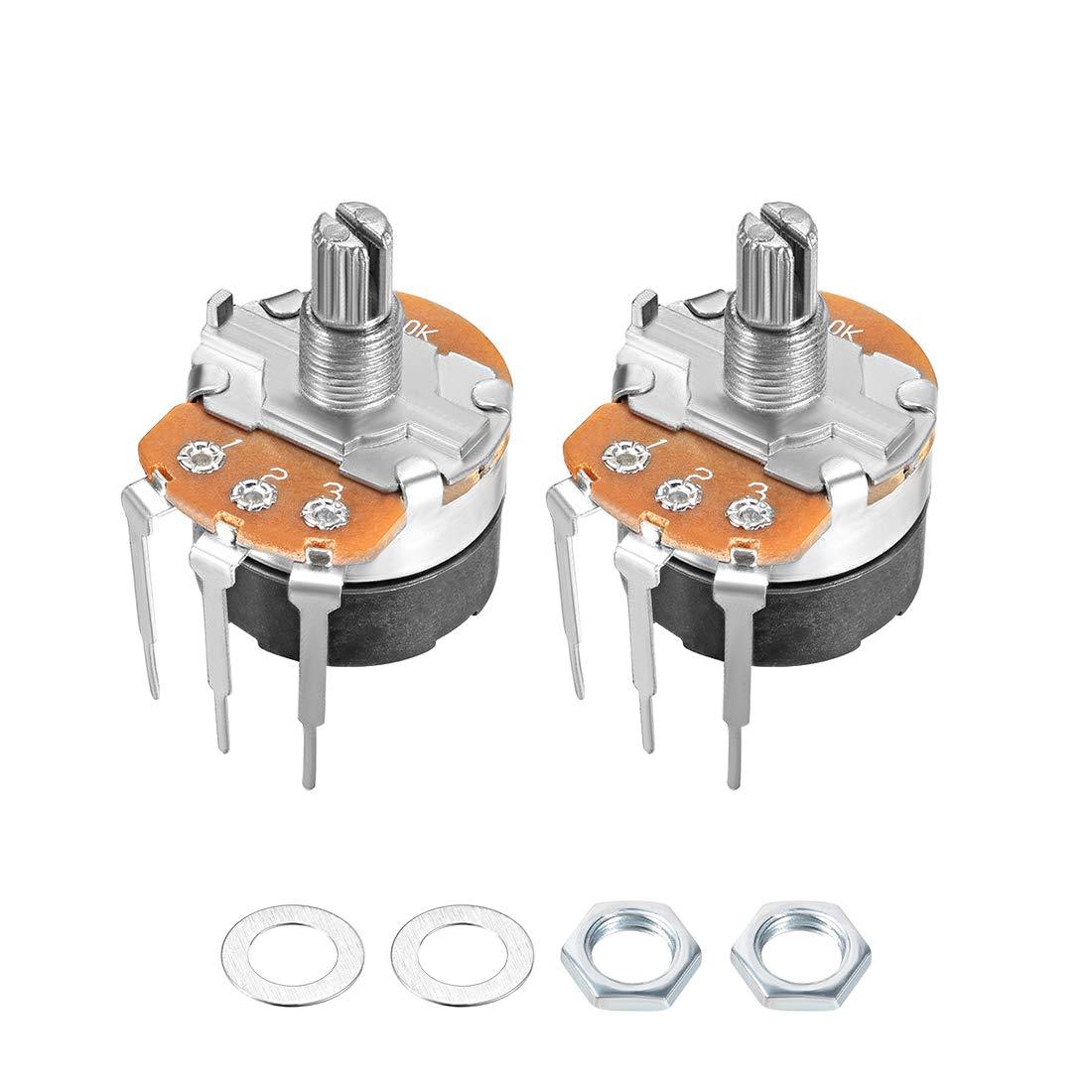 uxcell WH138 Potenciómetro con interruptor B10K Ohm Variable ...