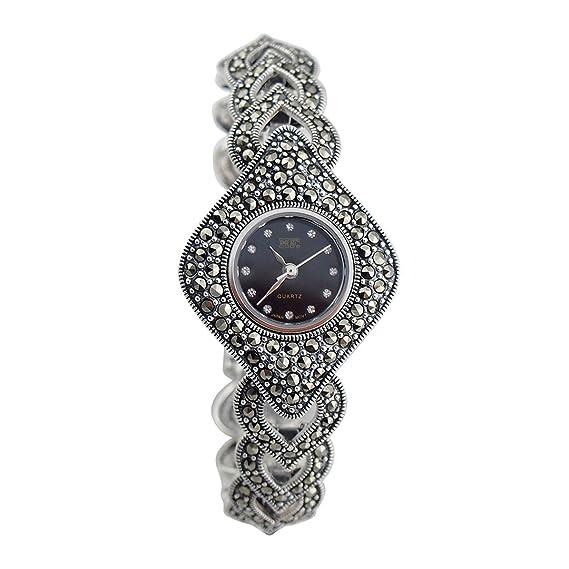 Langii hfbks3 Mujer Joyas en plata 925 de ley relojes pulsera reloj de pulsera cuarzo 7,25 Pulgadas: Amazon.es: Relojes