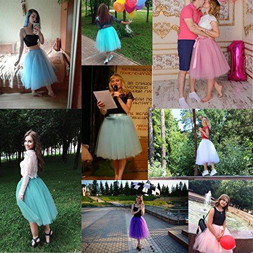 women�s tulle tutu princess skirt pleated midi knee