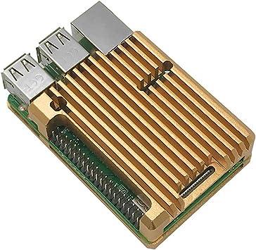 BASSK Radiador de aleación de Aluminio Funda Protectora Carcasa de enfriamiento de Metal para Raspberry Pi 3 Modelo B/B + / 2B Accesorios: Amazon.es: Electrónica