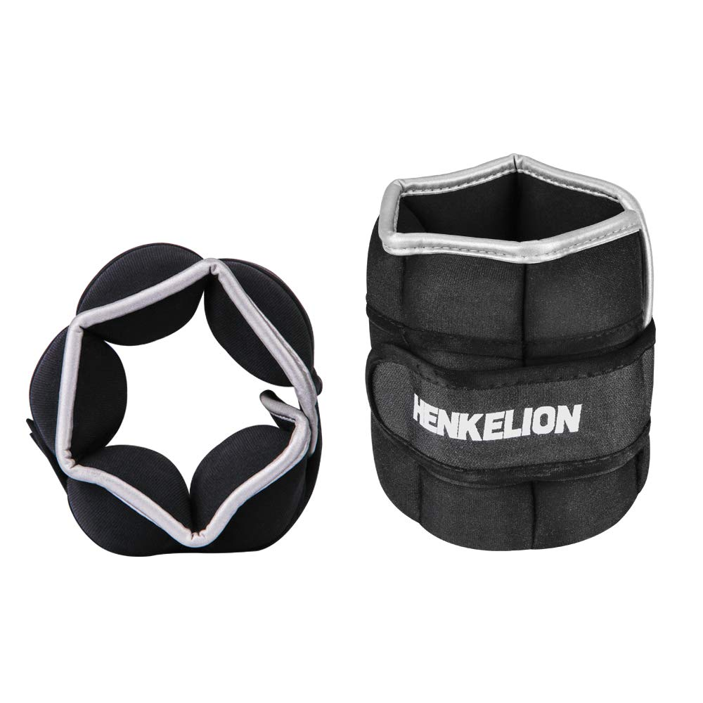 Henkelion Adjustable Ankle Weights Set for Men & Women 2lb 3lb 5lb Ankle Weights with Adjustable Strap for Gym,Fitness,Exercise,Walking,Jogging,Gymnastics,Aerobics- Ankle Weight - Wrist Weights