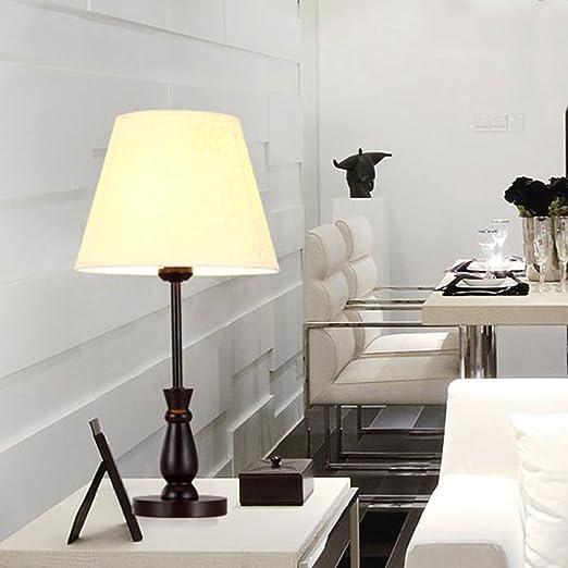 Rústico Lámpara de mesa Blanco escritorio lámpara coreano blanca ...