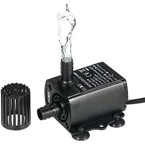 Decdeal USB DC5V 4.8W 300L/H Elevación 300cm Mini Bomba de Agua Ultrasilencioso,