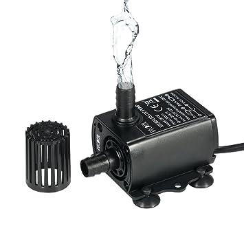 Decdeal USB DC5V 4.8W 300L/H Elevación 300cm Mini Bomba de Agua Ultrasilencioso, Sin Cepillo, Impermeable, Sumergible, para Circulación de Fuente Acuario: ...