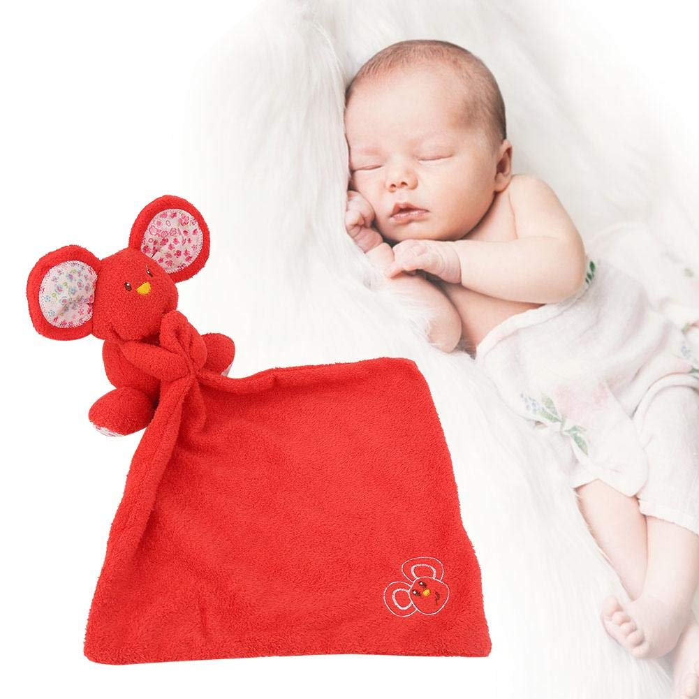 Beige Baby Newborn Appease Towels Soft Cute Mouse Toys Infant Towel Pacifying Emotion