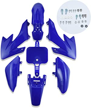 AH Plastic Fender Fairing Body Work Kit Set,Plastic Body Fender Kit 7 piece for CRF50 Chinese Mini Dirt Bikes