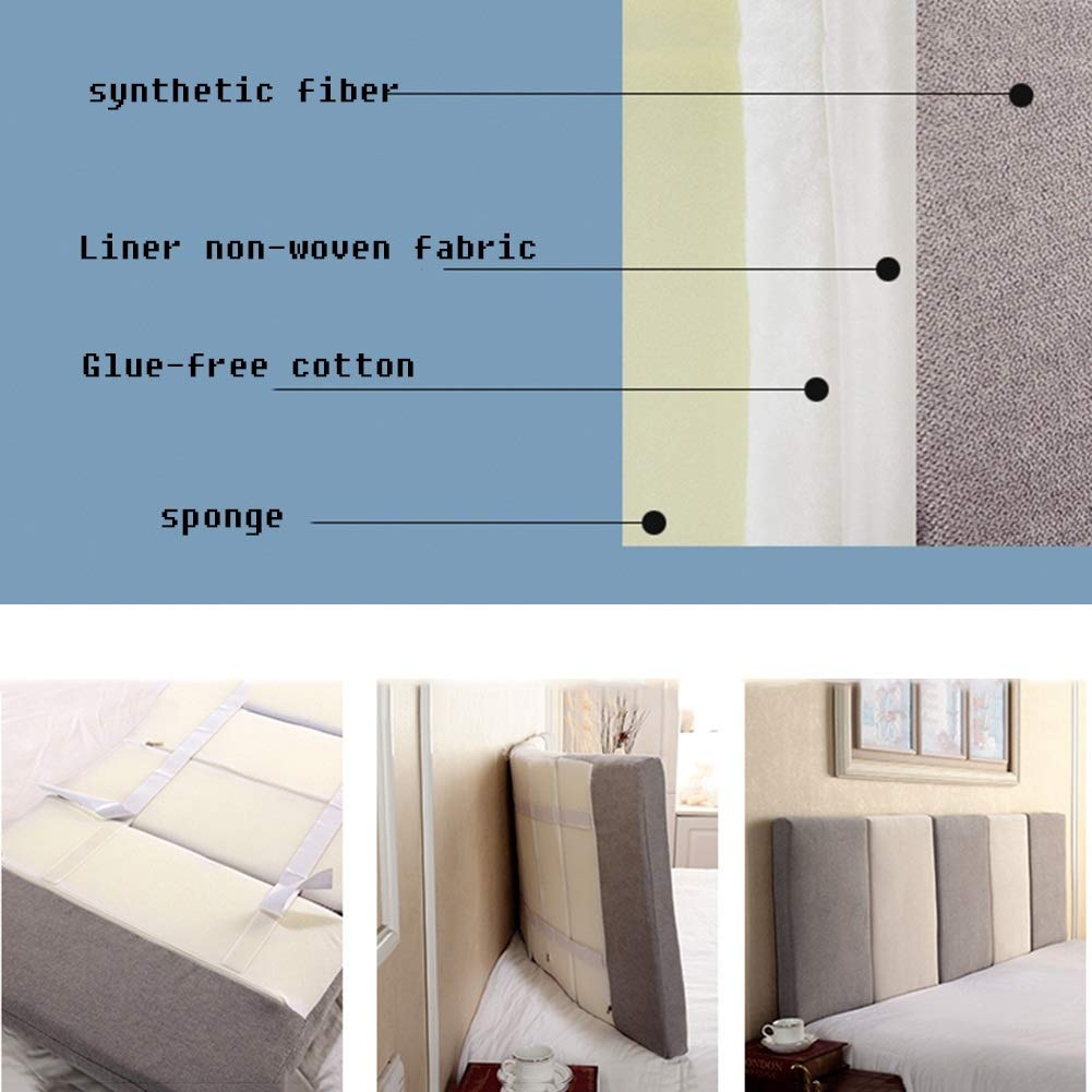 color : D, Size : 150x10x55cm LIXIONG Bed Backrest Cushion Double Self-adhesive Large Backrest Not Easily Deformed Detachable Wall Soft Pack 3 Sizes 7 Colors