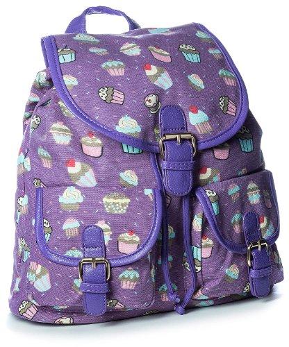 Amazon.com: Big Handbag Shop Womens Medium Fabric Ice Cream Print Rucksack Backpack Bag (2424-5 Purple): Shoes