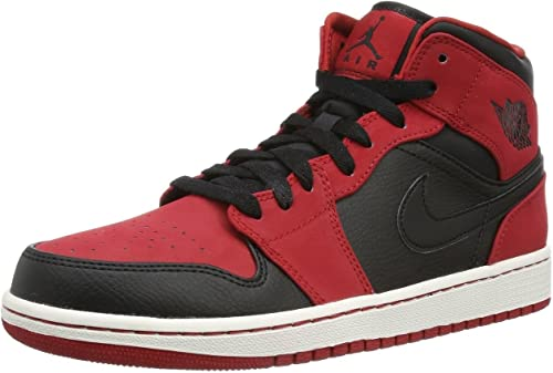 air jordan 1 mid homme rouge