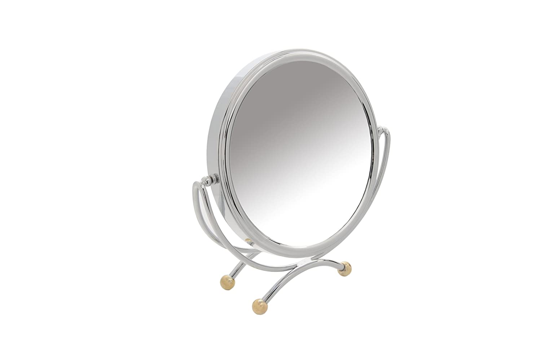 Danielle Miroir de table grossissant x 10 20 cm (Chrome/or) D821
