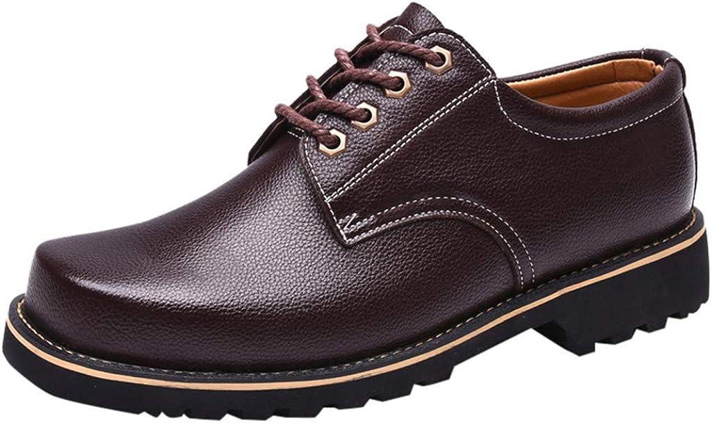 Zapatos de Seguridad de Piel Hombre Zapatos Oxford Vestir Negocios Formal Calzado con Puntera de Acero Trabajo S3 Zapatos casuales Comodos Yvelands