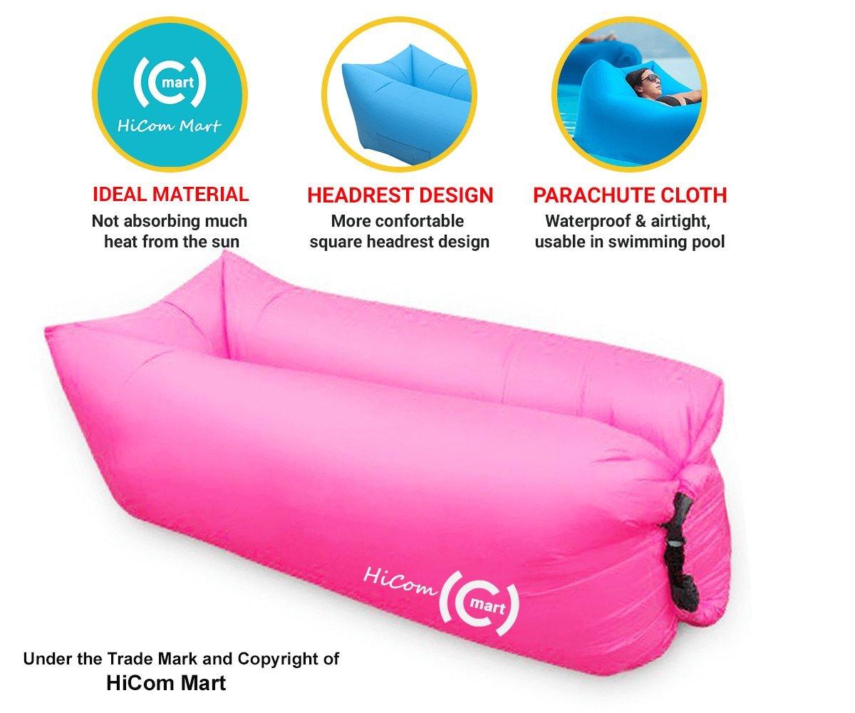 Amazon.com: hicom Mart – Portable tumbona, aire silla, Blow ...