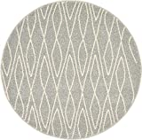 Unique Loom Fez Collection Moroccan Tribal Gray Round Rug (3′ x 3′) Review