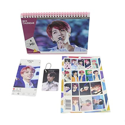 14571d171569 BTS Bangtan Boys Jungkook Desk Calendar with Instagram Card