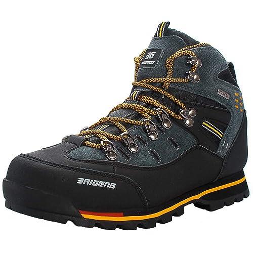 Yaer Botas de Montaña para Hombres, Impermeable Trekking Zapatos para Caminar Botines Al Aire Libre: Amazon.es: Zapatos y complementos