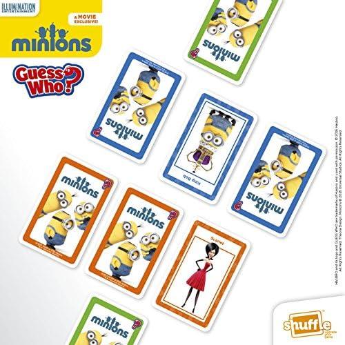 Shuffle Guess Who Juego de Tarjetas, diseño de Minions (Idioma: inglés): Amazon.es: Juguetes y juegos