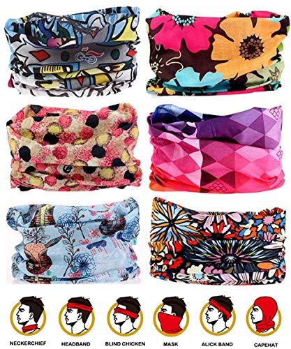 WharFlag Sports Headband Bandana - Outdoors Headwear, Wide Headband, Multifunctional Headwear, Causual Headwear Seamless Bandana Breathable Headband Headwrap for Women Men