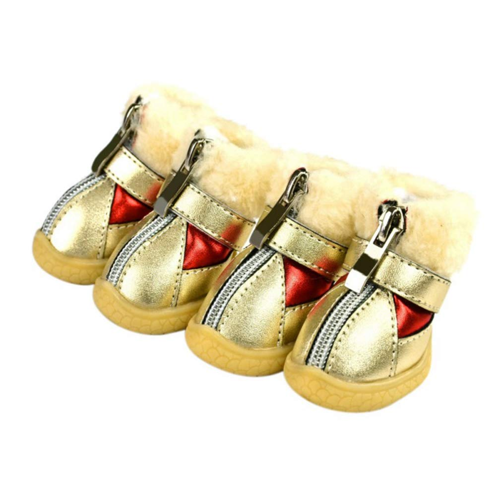 Red 2 Red 2 AOBRITON Pet Yorkie Winter Dog shoes Waterproof Rain shoes for Small Dogs Breeds Pet Cat Dog Socks Rubber Silicone Pet Dog Boots