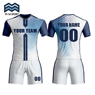 8f54003570c Amazon.com  M-W Sports Sublimation Digital Printing Soccer Jerseys For Team  Custom any Name any Number  Clothing