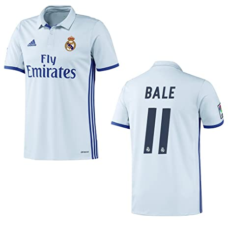 Adidas Camiseta Real Madrid Home Hombre 2016/2017 – Bale 11, weiß, Small