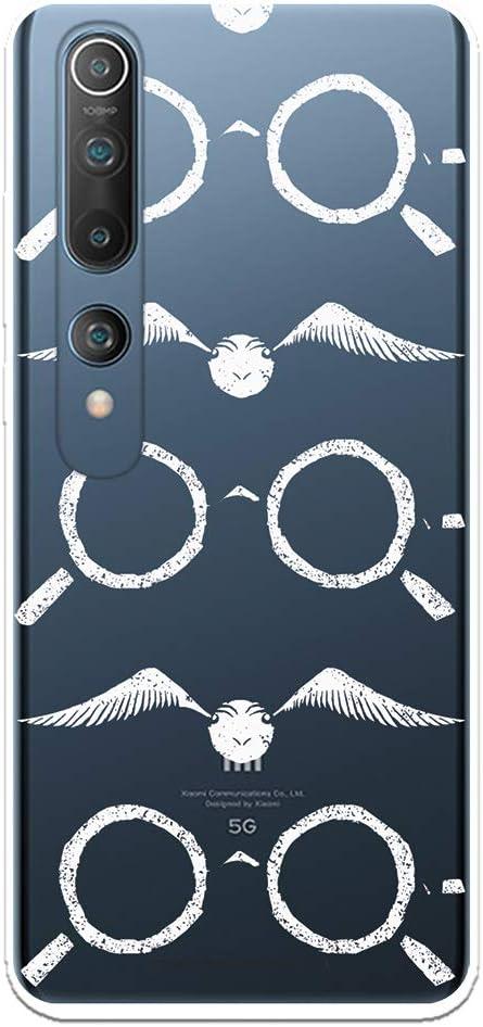 Funda para Xiaomi Mi 10 - Mi 10 Pro Oficial de Harry Potter Gafas Siluetas para Proteger tu móvil. Carcasa para Xiaomi de Silicona Flexible con Licencia Oficial de Harry Potter.