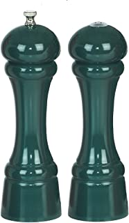 product image for Chef Specialties 8 Inch Windsor Pepper Mill and Salt Shaker Set - Forest Green