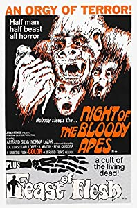 Posterazzi Night of The Bloody Apes 1969 Flesh (Aka Blood Feast) 1963 Us Movie Masterprint Poster Print (11 x 17) from Everett Collection