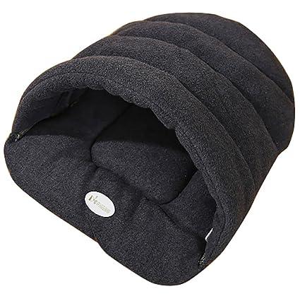 Saco de dormir para gatos y cachorros acogedor, suave, con forma de zapatilla y
