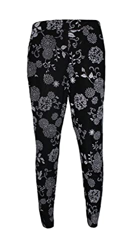 Comfiestyle - Pantalón - chino - para mujer multicolor Leaf Floral M/L (40-42)