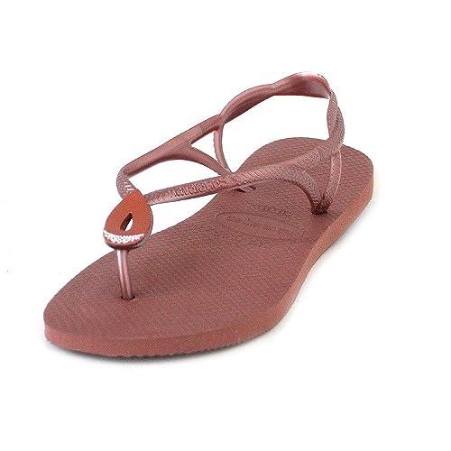 7d8fd3986 Havaianas Bronze Nude Luna Special Size 3 4 flip Flops  Amazon.co.uk ...