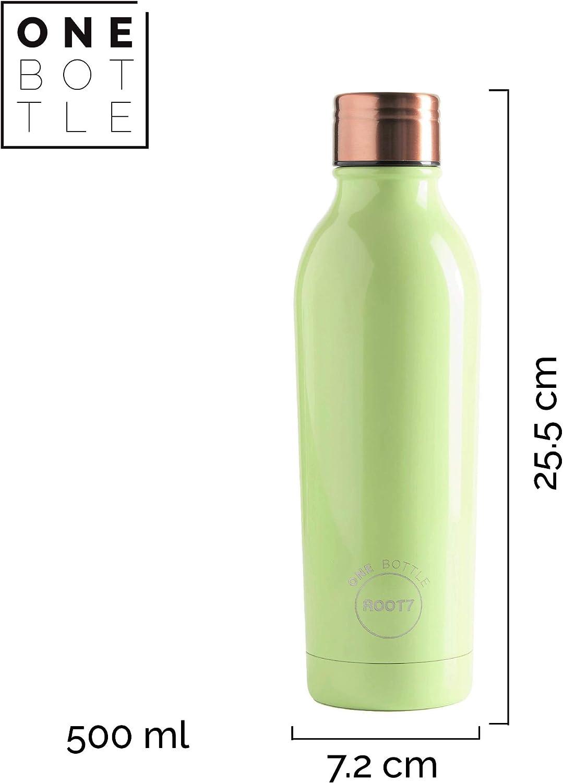 Ventajas Botella de Agua Joint Free Zap Impex /® Travellers 100/% Cobre Puro Botella de Agua Acabado en m/ármol para Ojos