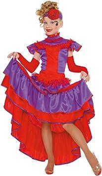 Carnaval - Disfraz de cabaret para niña, talla 12 años: Amazon.es ...