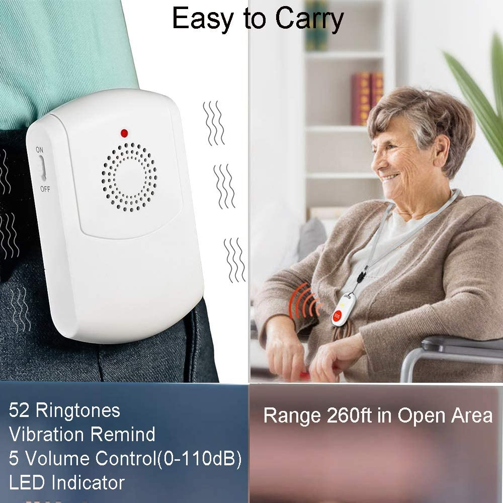 Caregiver Pager Wireless Nurse Alert System Vibration Pager Call ...