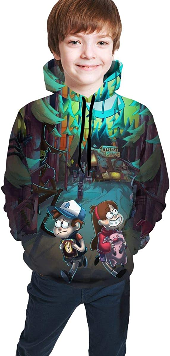 Youth Boys Girls Gravity FA-Lls Hoodies Sweatshirts Pullover Childrens 3D Print Pullover Big Pocket Hoodie