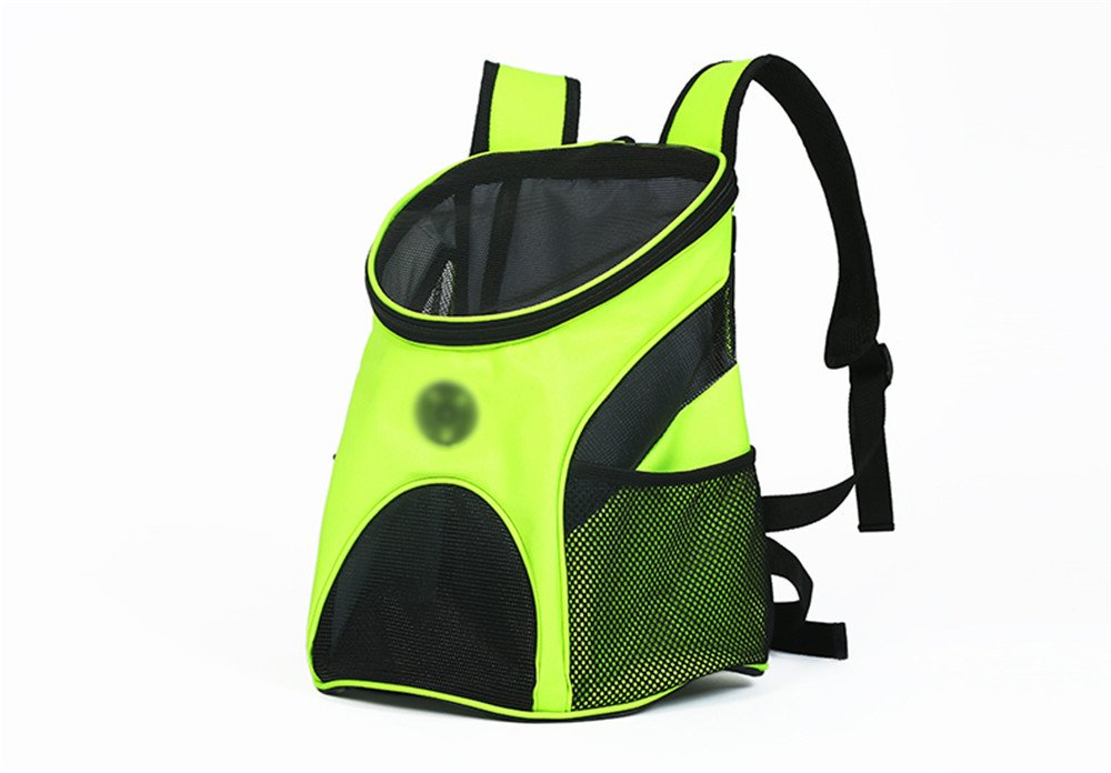 Green 35×28×43cm Green 35×28×43cm DESESHENME Dog Backpack Pet Outgoing Carrying Bag Dog Outdoor Travel Rucksack Chest Pack Cat Backpack Pet Knapsack,Green,35×28×43cm