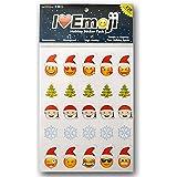 I EM JI Everything Emoji Holiday Stickers | 200+ Stickers | Santa, Christmas Tree, Snowflakes, Faces | Stocking Stuffers