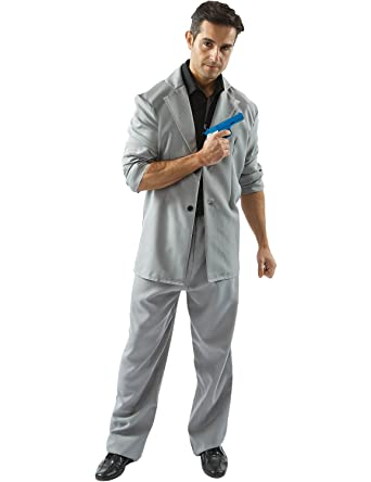 Mens Adult Miami Vice Detective u0027Ricou0027 Tubbs 80s Cop Outfit Fancy Dress Costume  sc 1 st  Amazon.com : easy mens 80s costume  - Germanpascual.Com