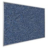 Rubber-Tak Wall Mounted Bulletin Board Size: 4' H x 12' W, Surface Color: Blue