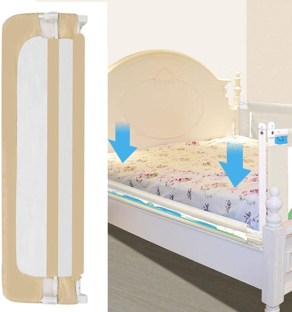 Beige Barandilla Cama Barra de Seguridad Cama para BeB/é Altura Ajustable lyrlody Barandilla Cama Ni/ño 100cm Abatible