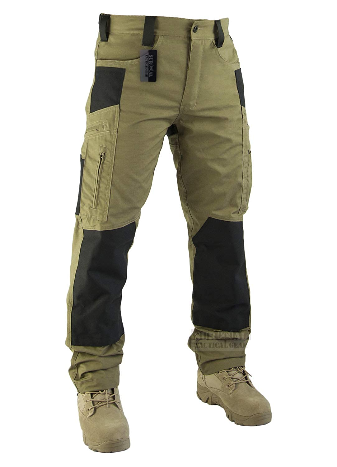Survival Tactical Gear Men/'s Ripstop Pants Outdoor Military Camo Cargo Trousers for Camping Hiking