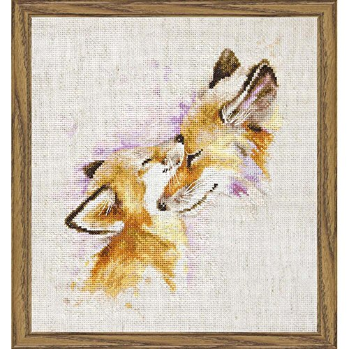 Lucas Cross Stitch Kit Foxes