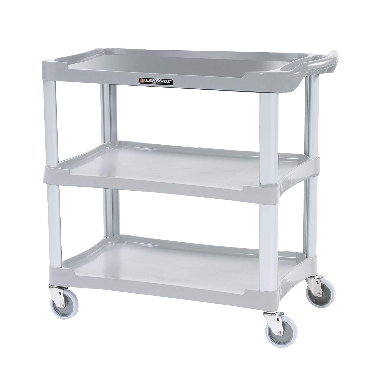 Lakeside 2521 Deep Well Utility Cart, Plastic, 2 Shelves, 500 lb. Capacity