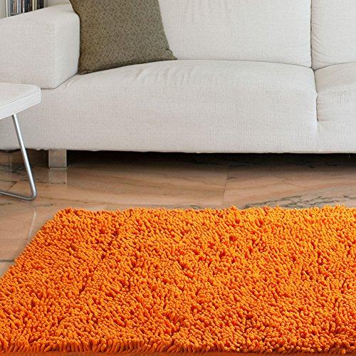 Lavish Home High Pile Carpet Shag Rug, 21 by 36-Inch, Orange