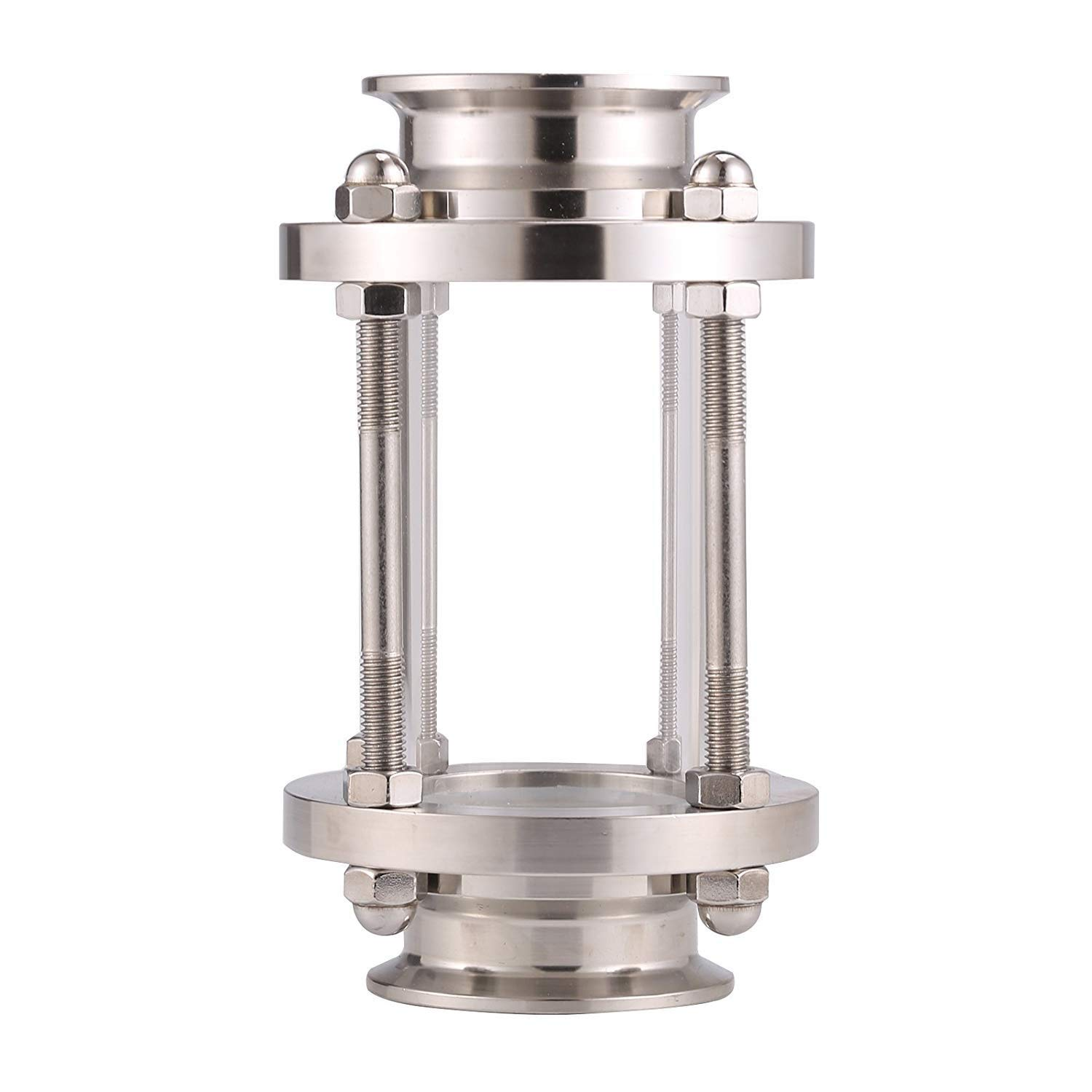 1.5 Sanitary Sight Glass Stainless Steel 304 in-Line Sight Glass with Clamp End Flow Pipe OD 38mm Flow Sanitary Straight Sight Glass Tri-clamp