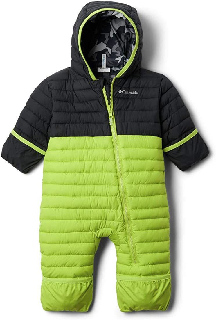Bright Chartreuse//Black 12-18 Months Infant Columbia Kids Powder Lite Reversible Bunting