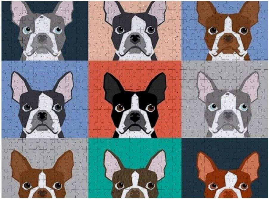 back pocket and button closure JJS07 Just Right Small Smart Boston Terrier design patterned tiny shoulder purse with adjustable handle